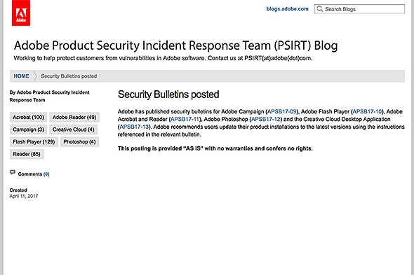 Adobe Product Security Incident Response Team Blog