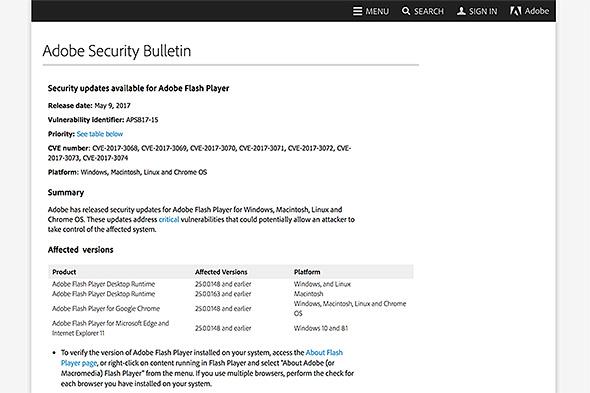 Adobe Flash Player」に脆弱性