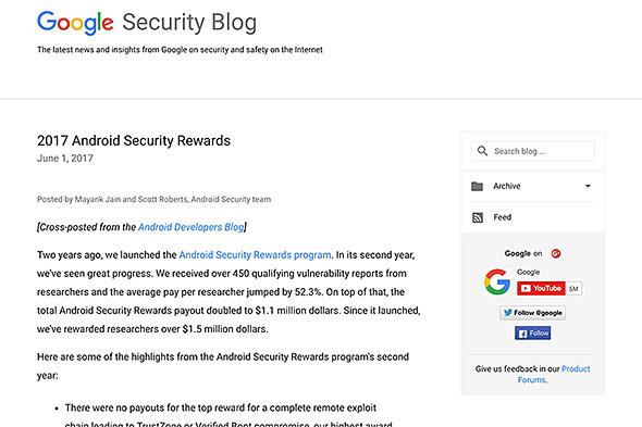 脆弱性発見者への賞金を増額