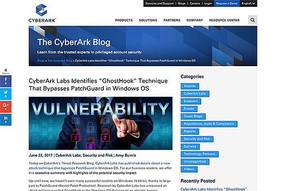 CyberArkの報告