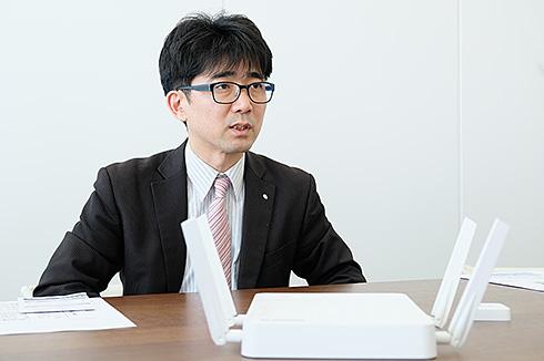 エレコム 商品開発部 ネットワーク課 コーポレートNW開発チーム 課長代理の谷川篤氏