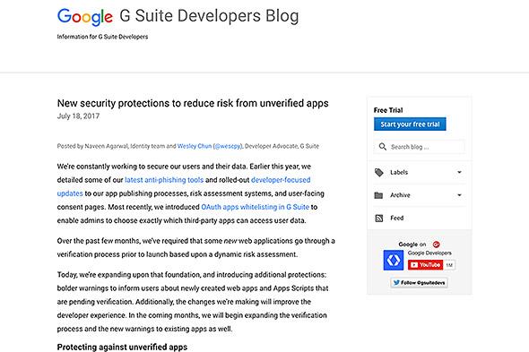 G Suite Developers Blog