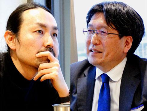 フジテック CIOの友岡賢二氏(画像=右)とクックパッド情シス部長の中野仁氏(画像=左)