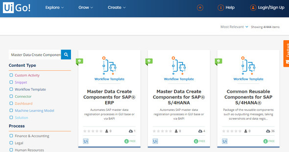 UiPath、SAP ERPユーザー向けにマスターデータ登録を最適化する部品を提供