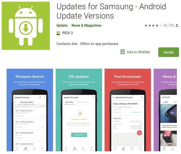 Updates for Samsung