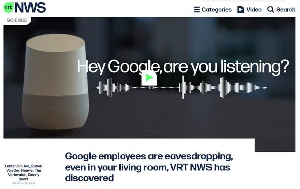 VRT NWSは流出した音声のうち1000件以上を入手したと伝えた