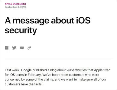 Appleの声明