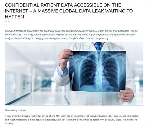 医療情報の流出を報じるGreenboneのブログ
