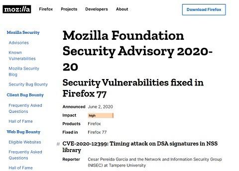 Firefox 77のアップデート情報