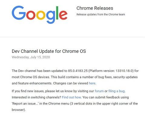 Chrome 84Release