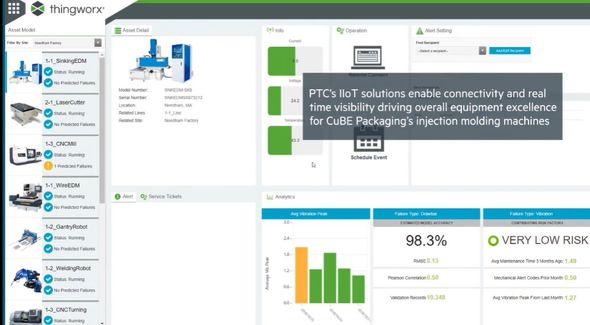 製造装置の稼働状況などを収集、ポータル画面で一括管理する