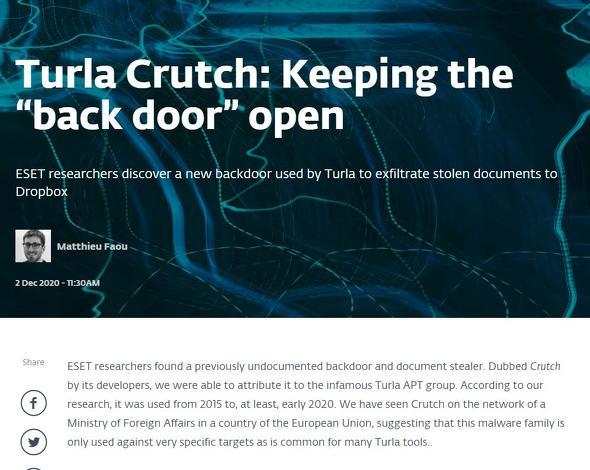 "Turla Crutch: Keeping the ""back door"" open   WeLiveSecurity"