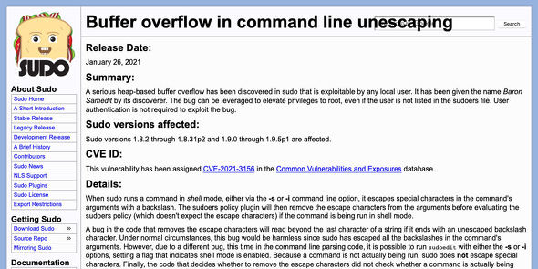 Buffer overflow in command line unescaping