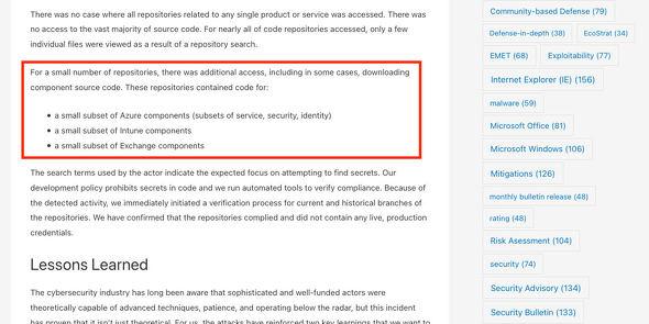 Microsoft Internal Solorigate Investigation - Final Update - Microsoft Security Response Center