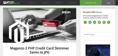 Magento 2 PHP Credit Card Skimmer Saves to JPG