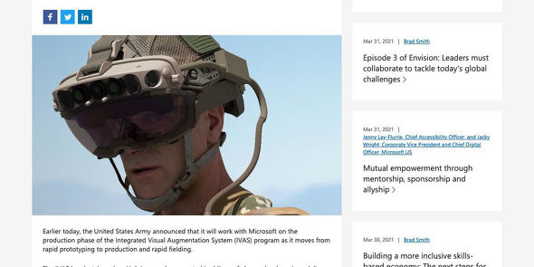 Army moves Microsoft HoloLens-based headset from prototyping to production phase - The Official Microsoft Blog