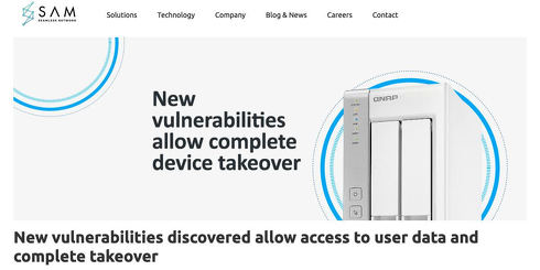New vulnerabilities discovered allow access to user data and complete takeover - SAM Seamless Network