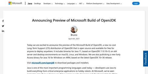 Announcing Preview of Microsoft Build of OpenJDK | Java at Microsoft