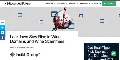 Lockdown Saw Rise in Wine Domains and Wine Scammers