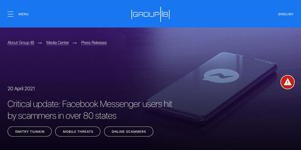 Critical update: Facebook Messenger users hit by scammers in over 80 states - Global Cyber Security Company - Group-IB