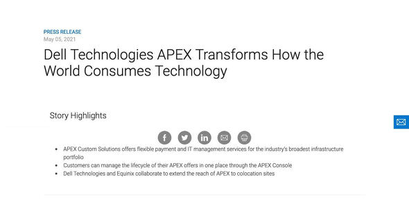 Dell Technologies APEX Transforms How the World Consumes Technology Dell Technologies US