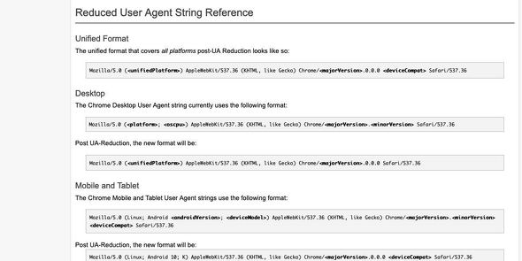 User-Agent Reduction - The Chromium Projects