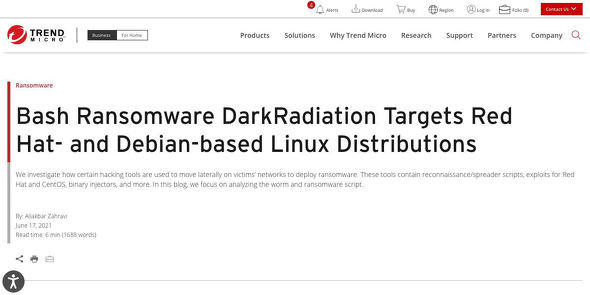 Bash Ransomware DarkRadiation Targets Red Hat- and Debian-based Linux Distributions
