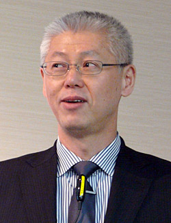 開発ライフサイクルの短縮化が利益拡大の鍵を握ると話す三澤一文氏