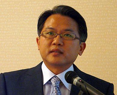 日本企業が中国進出するためのこつを話す郭承和副社長