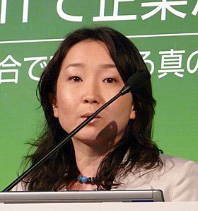 条例改正案を説明する東京都 環境局の千葉稔子氏