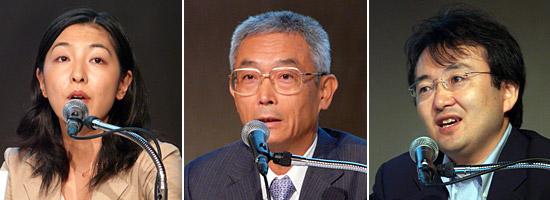 企業のIT活用についてIT経営協議会の面々が意見を交わした。左から後藤玲子氏、遠藤紘一氏、村上敬亮氏