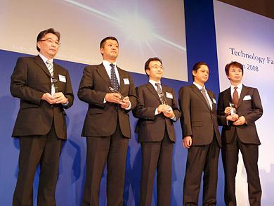 2008年度ランキングの上位企業の面々。一番左はウェルネットの宮澤一洋氏
