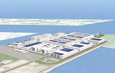 堺コンビナート太陽光発電施設の完成イメージ
