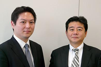 SAPジャパンの福田譲氏(左)とIBCSの刀根猛氏
