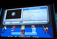 「JavaFX TV」のデモ画面。ビデオ映像を見ながら解説を表示させることも可能