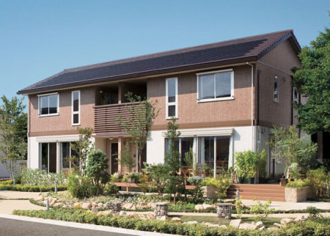 高断熱複層ガラスや太陽光発電システムなどを標準装備した環境対応型2階建賃貸住宅「セジュールエコハ」