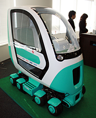 自動運転の電気自動車