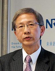 4月からNRI社長に就任する嶋本正氏