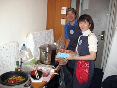 国立スポーツ科学センターの管理栄養士、亀井さんと長谷川さん