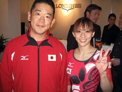 笑顔の田中理恵選手と