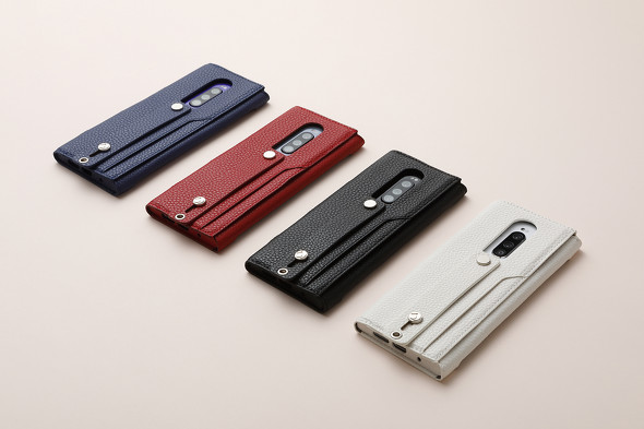 「clings (クリングス) SLIM HAND STRAP CASE for Xperia 1」