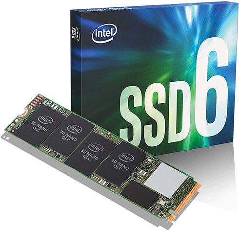 近年のPCは、HDDに比べて高速なSSDを搭載したモデルが一般的です。画像はIntelの「660p」