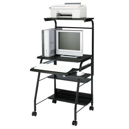 キャスター付きで移動しやすいパソコンデスクも。サンワサプライの「HLN-60BKN」