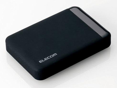 エレコムのSeeQVault対応ポータブル型外付けHDD「ELP-QEN020UBK」