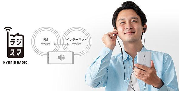 スマホでラジオを受信する際はイヤフォンが必須(「arrows Be4 F-41A」製品ページより)