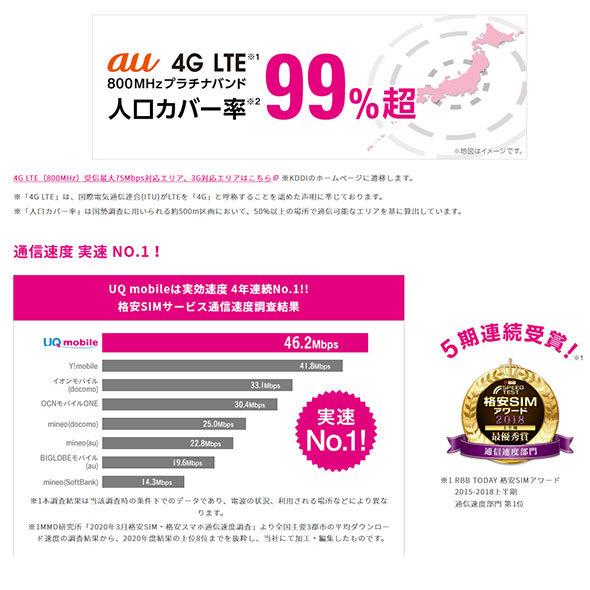 UQ mobileはauの4G網を利用しています(同社Webサイトより)