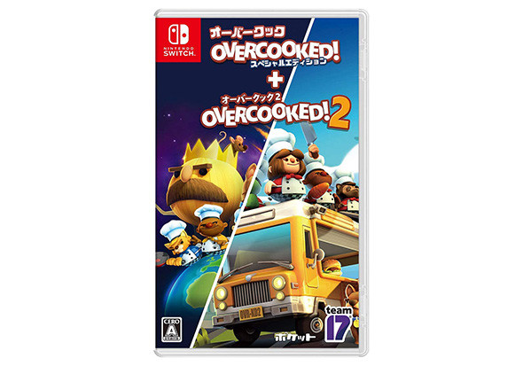 Overcooked. Developed by Ghost Town Games Ltd (C) 2017. Published by Team17 Digital Ltd. Overcooked 2. Developed by Team17 Digital Ltd and Ghost Town Games Ltd (C) 2018. Published by Team17 Digital Ltd. T