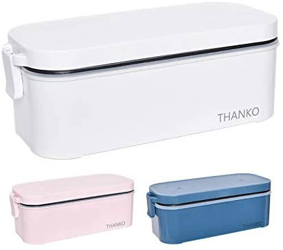 お弁当箱にしか見えない外観が特徴的な、サンコー「おひとりさま用超高速弁当箱炊飯器」