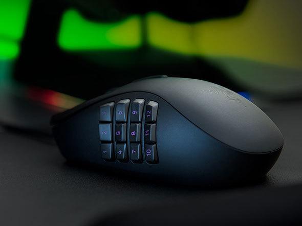 サイドボタンなどの数はゲームによっては重要になります。特にMMO系タイトルをプレイする場合、ボタンが多いものが好まれがちです