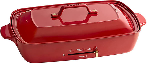 機能性、デザインのバランスが良い「BRUNO ホットプレート グランデサイズ」